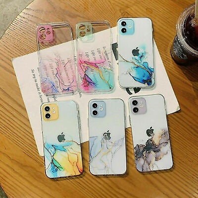 AU8.99 • Buy For IPhone 12 12 Pro Max 11 XS XR X 8+ 7 Shockproof Clear Marble Case Cover