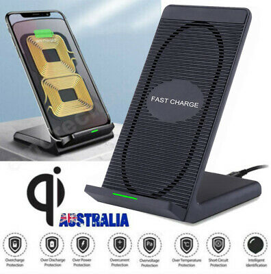 AU19.35 • Buy Wireless Charger Qi Fast Charging Stand Dock Station For IPhone 12 11 Pro XR SE2