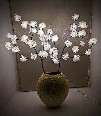 £19.99 • Buy White Blossom Twig Branch Light, Warm LED Lights With Plug-in Power
