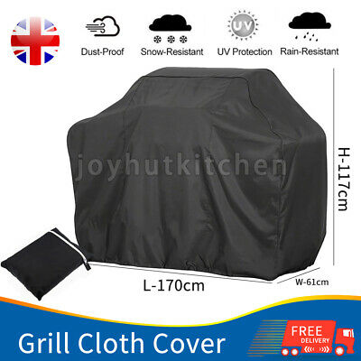£8.99 • Buy 145CM Heavy Duty BBQ Cover Waterproof Barbecue Grill Protector Outdoor Covers