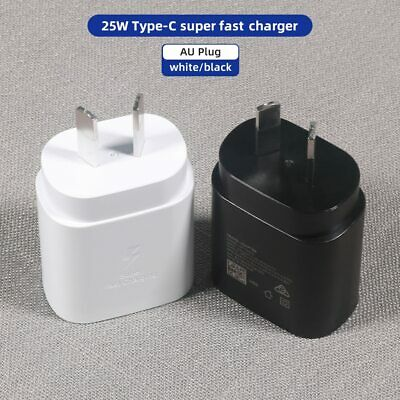 AU22.99 • Buy  25W SUPER FAST Type C PD Wall Charger For Samsung Galaxy S21, NOTE 20 ULTRA