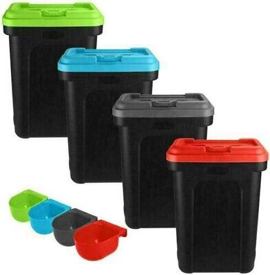 £13.99 • Buy 30l Pet Food Container Dog Cat Animal 15kg Dry Feed Seed Storage Box Bin & Scoop