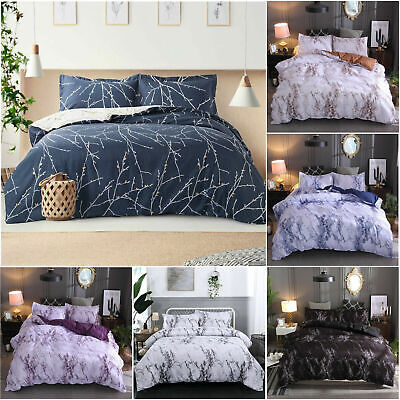 AU22.99 • Buy Marble Single Queen King Size Doona Duvet Quilt Cover Bed Set Bedding Pillowcase