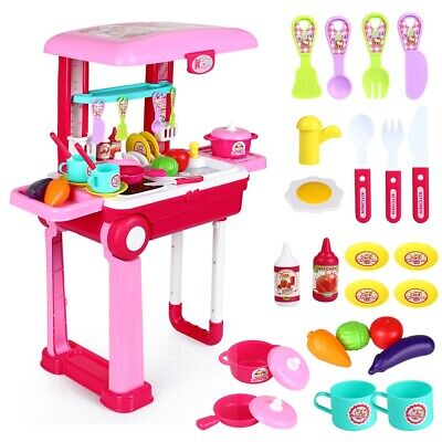 £10.99 • Buy Electronic Children Kids Kitchen Cooking Toy Portable Girls Cooker Play Set Gift