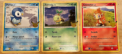 $9.99 • Buy Pokemon 25th Jumbo Card Set Sinnoh Region. Includes Piplup, Turtwig And Chimchar