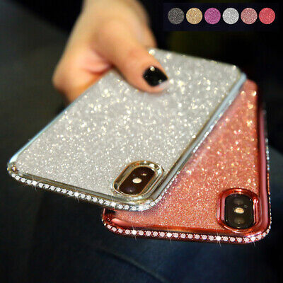 AU7.99 • Buy For IPhone 11 12 Pro Max 8 7 X Bling Glitter Silicone Plating Diamond Case Cover