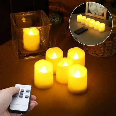 £11.58 • Buy 6PCS Ivory LED Candles Flameless Moving Wick With Timer Remote Control Battery