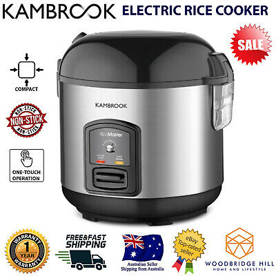 AU60.19 • Buy Kambrook Rice Cooker Steamer 5 Cup Non Stick Pot Stainless Steel Kitchen Home