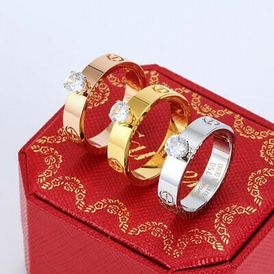 £9.99 • Buy Ring Bracelet Stainless Fashion Mens Womens Bridal Gift Trendy Jewelry Width 5MM