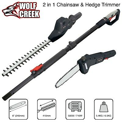 £139.95 • Buy Chainsaw Hedge Trimmer 2 In 1 Multi Tool Telescopic Pole - Electric