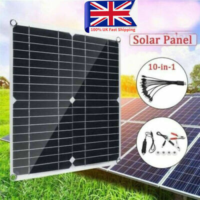 £18.79 • Buy 12V Solar Panel Kit 10A-100A 30W Battery Charger With Controller Caravan Boat