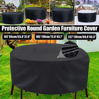 AU21.93 • Buy Outdoor Furniture Round 1.42m/1.85m/2.3m Cover Waterproof Garden Table
