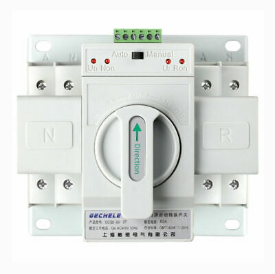 £47.99 • Buy Single Phase Dual Power Automatic Transfer Switch ATS MCB Type 2P 63A 220V