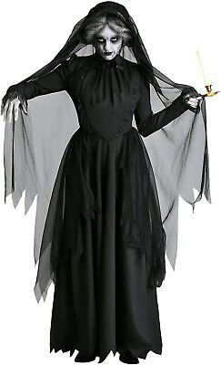 £19 • Buy Ladies Ghost Bride Costume Halloween Fancy Dress Zombie Corpse Outfit Size Uk 14
