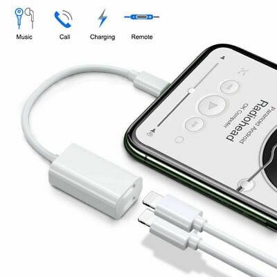 AU8.48 • Buy Earphone Headphone Jack Charger Aux Audio Adapter Cable For IPhone 12 11 Pro 8 7