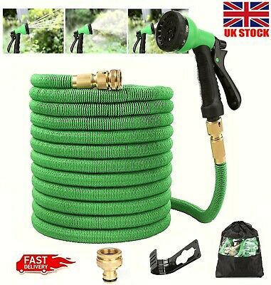 £12.50 • Buy Expandable Garden Hose Pipe 75Ft Flexible Stretch Pipes With Water Spray Gun