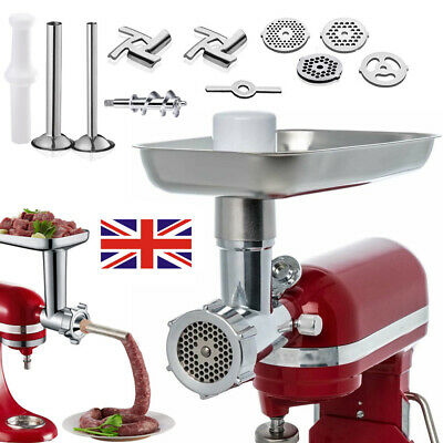 £21.79 • Buy Meat Grinder Sausage Stuffer Mincing Attachment Set For KitchenAid Stand Mixer