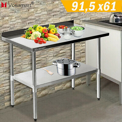 £84.59 • Buy WestWood Stainless Steel Commercial Catering Table Work Bench Kitchen Top Prep