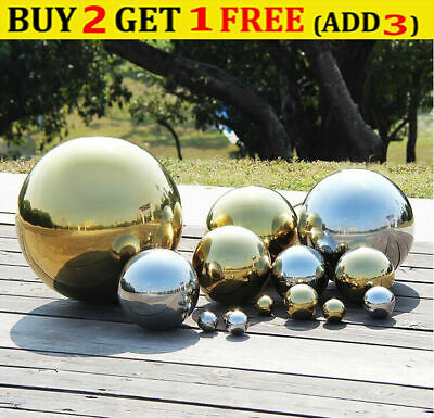 £2.89 • Buy Hollow Sphere Gazing Ball Mirror Polished Home Garden Decor Stainless Steel