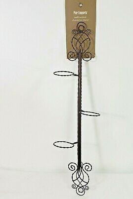 £27.88 • Buy Metal  Wall Sconce Scrollwork Chandelier Candelabra Candle Holder Pier One NEW