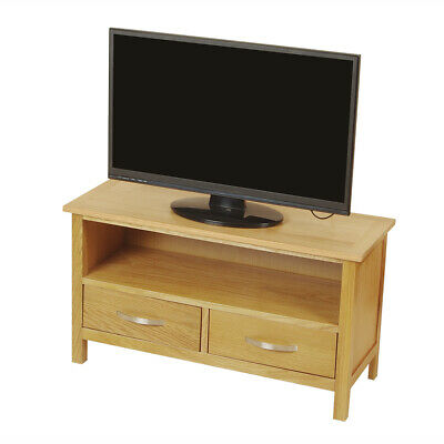 £109.99 • Buy Solid Oak TV Unit Stand Light Solid Wood Small Television Wooden Media Cabinet