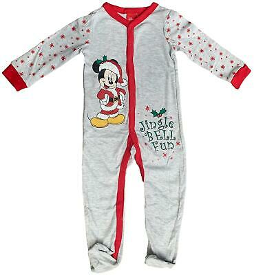 £3.99 • Buy Baby Sleepsuit Christmas Mickey Mouse Babygrow All In One Ex Store Nb-18m New