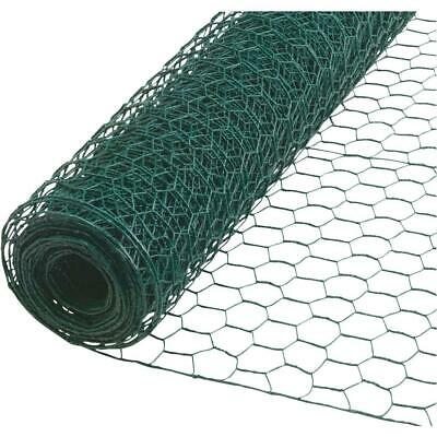 £9.11 • Buy PVC Coated Chicken Wire 5m 25mm Galvanised Wire Mesh Netting Fencing - Green