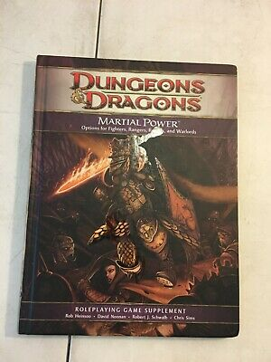 £10.93 • Buy Dungeons & Dragons: Martial Power Options For Fighters Rangers Rouges Warlords