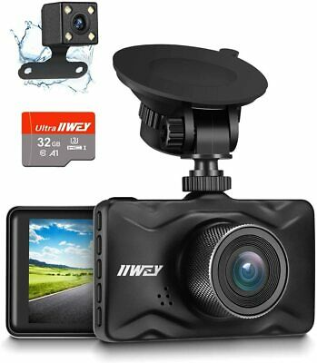 AU140.03 • Buy Dash Cam Front And Rear, 32GB TF Card Included  1080P Dash Camera For Car
