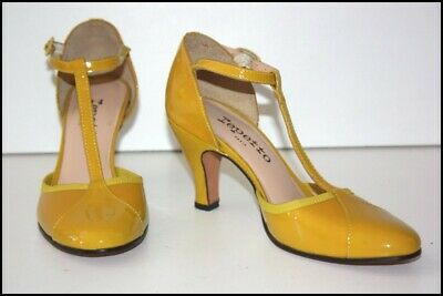 £105.89 • Buy Repetto Court Shoes Heels Leather Polish Ocher T 37 Mint