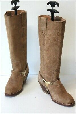 £80.33 • Buy Sancho Riding Boots Crust Leather Beige Lined Leather T 36 Top Condition