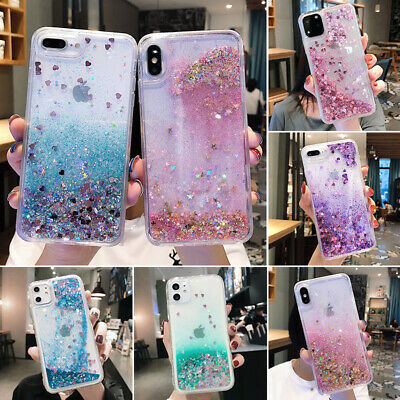 AU7.88 • Buy Bling Glitter Quicksand Silicone Case Cover For IPhone 11 12 Pro Max XS XR 6 7 8