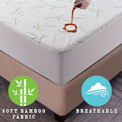 AU38.99 • Buy Mattress Protector Bamboo Bed Matress Waterproof Single King Queen Double NEW