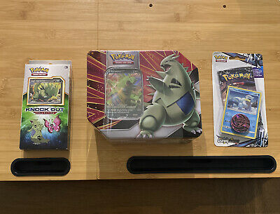 $50 • Buy Sealed Pokemon Tyranitar Tin & Knock Out Collection - S&M Ultra Prism Blister
