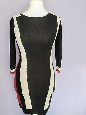 £22.95 • Buy Julien Macdonald Ladies Star Dress Size 14 Bold Print Fitted Wiggle Retro VGC
