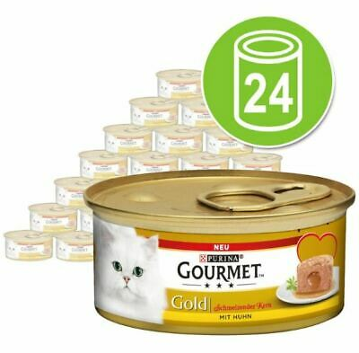 £23.99 • Buy Gourmet Gold Melting Heart Cat Wet Food Saver Pack 24 X 85g Cans Delicious Pâté