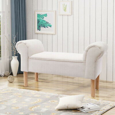 £68.95 • Buy Window Bench Bedroom End-of-Bed Stool Living Room Seat Chair Furniture Fabric UK