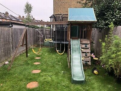 £160 • Buy Wooden Climbing Frame With Slide, Swings And Monkey Bars