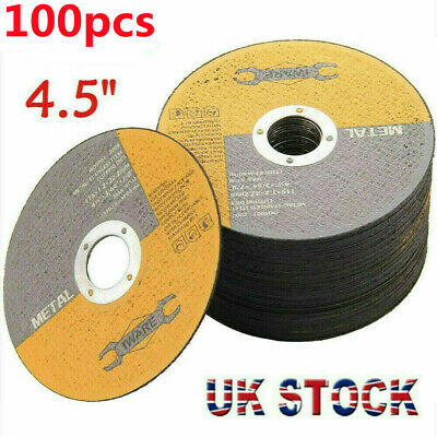 £20.99 • Buy 100x 4.5 115mm Metal Cutting Blade Disc Stainless Steel Angle Grinder Thin 1.2mm