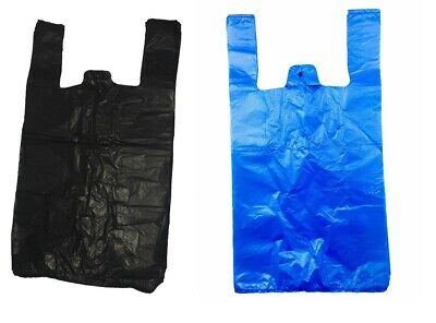 £3.50 • Buy Strong Plastic Vest Carrier Bags For Supermarkets Stalls New