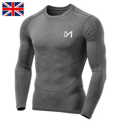 £10.78 • Buy Compression Base Layers Mens Thermal Top Sport Workout Running Long Sleeve Shirt