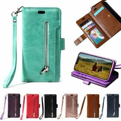 AU16.99 • Buy Wallet Case For IPhone 11 12 Pro X 8 7 Ladies Leather Zip Holder Cover Card Flip