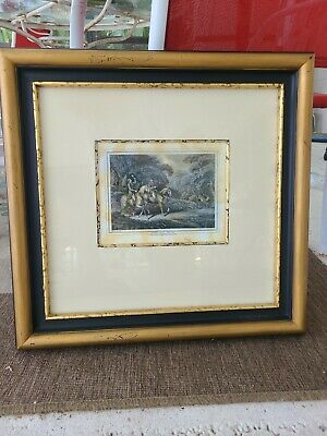 £18.16 • Buy 1812 Samuel Howitt Reproduction Stag Hunting 19x18  In Wood Frame