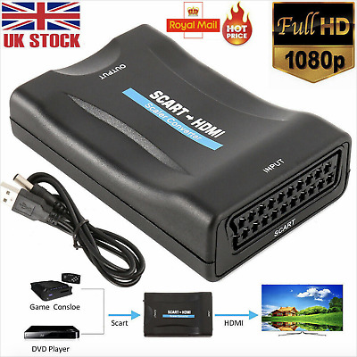 £7.29 • Buy SCART To HDMI 1080P Composite Video Scaler Converter Audio Adapter For DVD TV UK