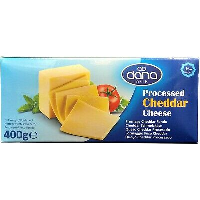 £7.97 • Buy Dana Processed Cheddar Cheese Block 400 Gr   For Macaroni, Burgers...(Pack Of 1)