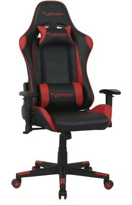 AU260 • Buy Typhoon Gaming Chair Red, Racing Chair, Office Chair