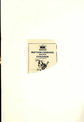 £4.70 • Buy Mother Courage And Her Children By Brecht 1985 RSC Barbican Theatre Programme...