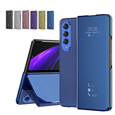 AU17.87 • Buy For Samsung Galaxy Z Fold3 5G Smart View Mirror Leather Magnetic Flip Case Cover