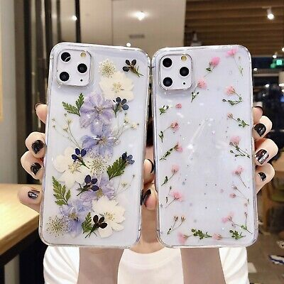AU14.29 • Buy Glitter Floral Pattern Phone Case For IPhone 7 8 Plus X 11 12 Pro Max Soft Cover