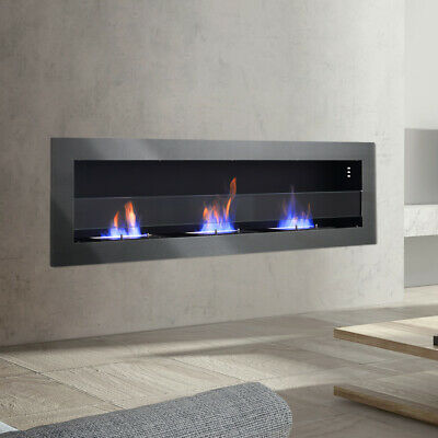 £225.95 • Buy Eco Ethanol Fireplace Insert Into Wall/Wall Hanging Fire Heater Biofire 3 Stoves